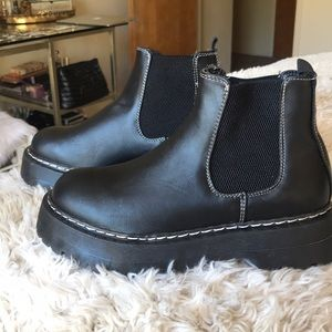 Super cute nasty gal platform boots never worn